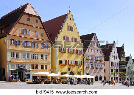 Stock Image of Germany, Bavaria, Rothenburg ob der Tauber.
