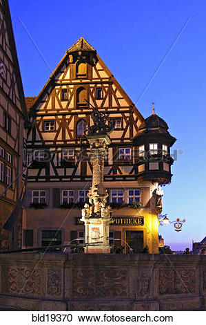 Stock Photography of Germany, Bavaria, Rothenburg ob der Tauber.