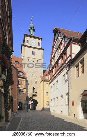 Stock Photography of Townscape of Rothenburg, Germany u26006750.