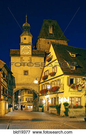Picture of Germany, Bavaria, Rothenburg ob der Tauber, Markusturm.