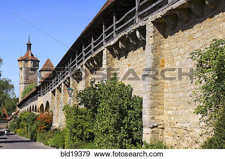 Stock Photograph of Germany, Bavaria, Rothenburg ob der Tauber.