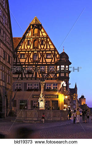 Stock Photo of Germany, Bavaria, Rothenburg ob der Tauber.