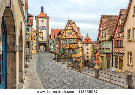 Rothenburg Ob Der Tauber Famous Historical Stock Photo 113536987.