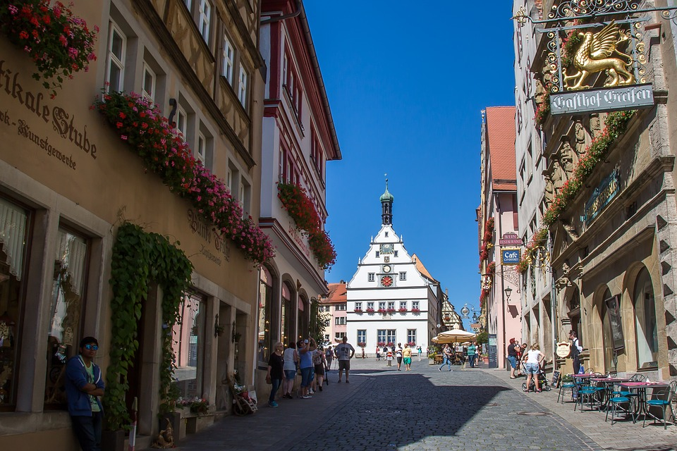 Free photo: Rothenburg Of The Deaf, Marketplace.