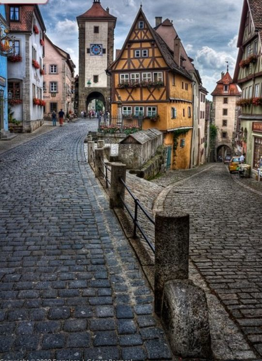 The most photographed corner of Rothenburg ob der Tauber, Germany.