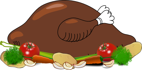 Chicken dinner clipart.