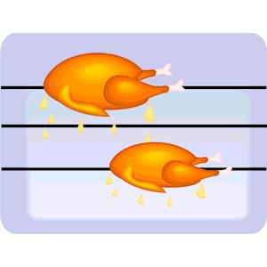 Rotisserie Chicken Clipart.