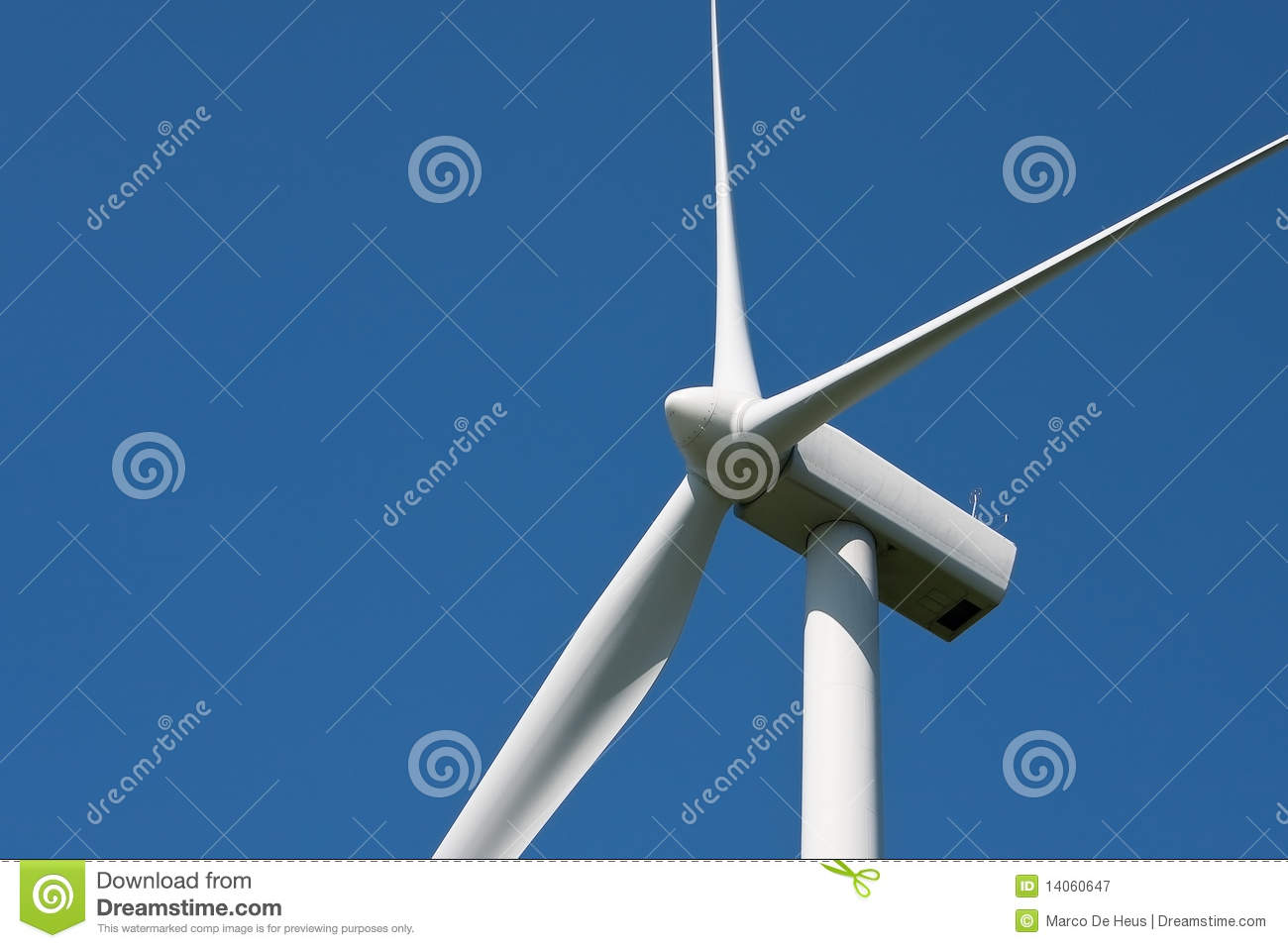 Wind Turbine Rotor Blades Royalty Free Stock Photography.