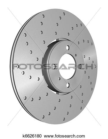 Stock Illustrations of double disc brake rotor k6626180.
