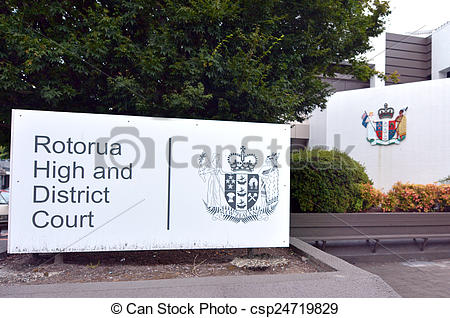 Stock Photo of Rotorua High and district court.