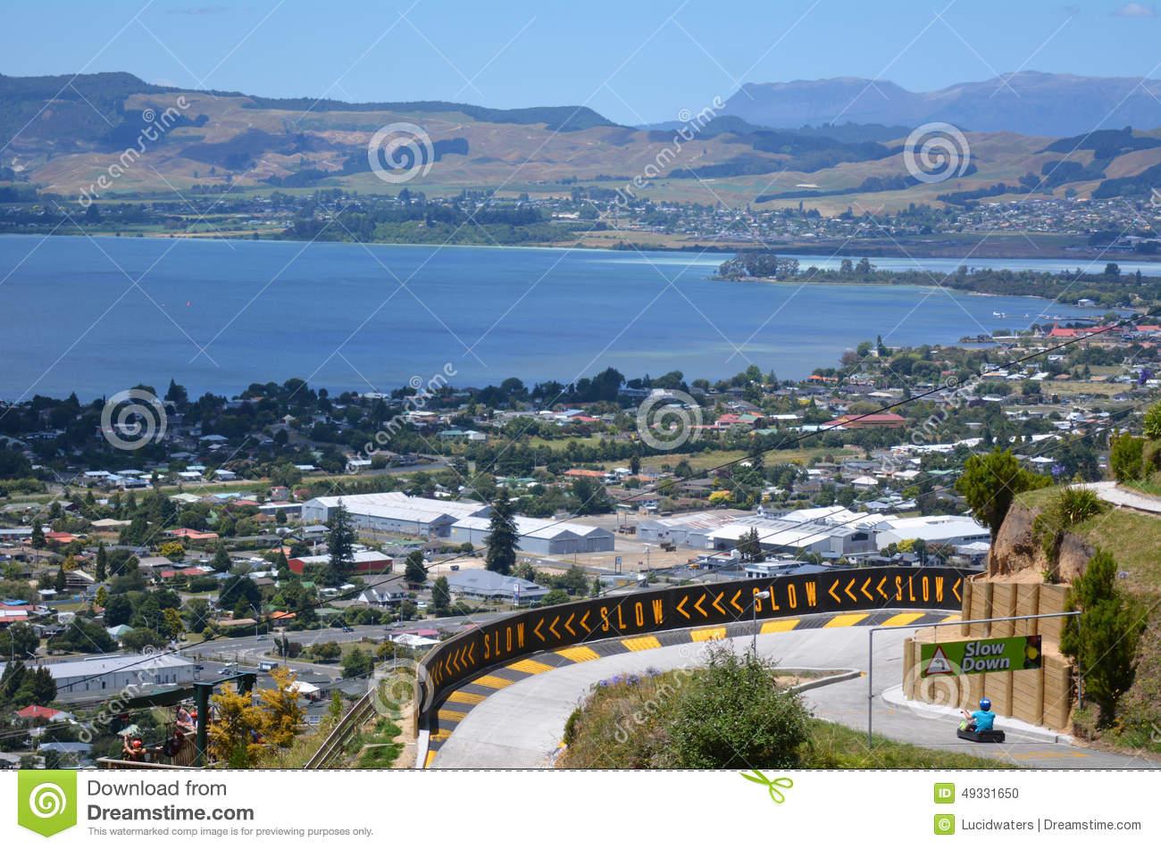 Skyline Rotorua Luge In Rotorua City.