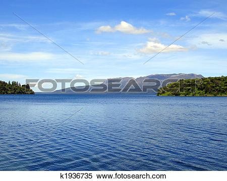 Stock Image of Ripples on Lake Tikitapu (Blue Lake), Rotorua, New.