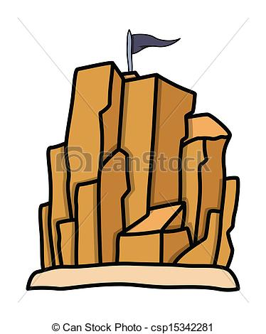 Vector of Pirates Living Place Rock Mountain.