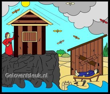 Huis op de rots. www.gelovenisleuk.nl.