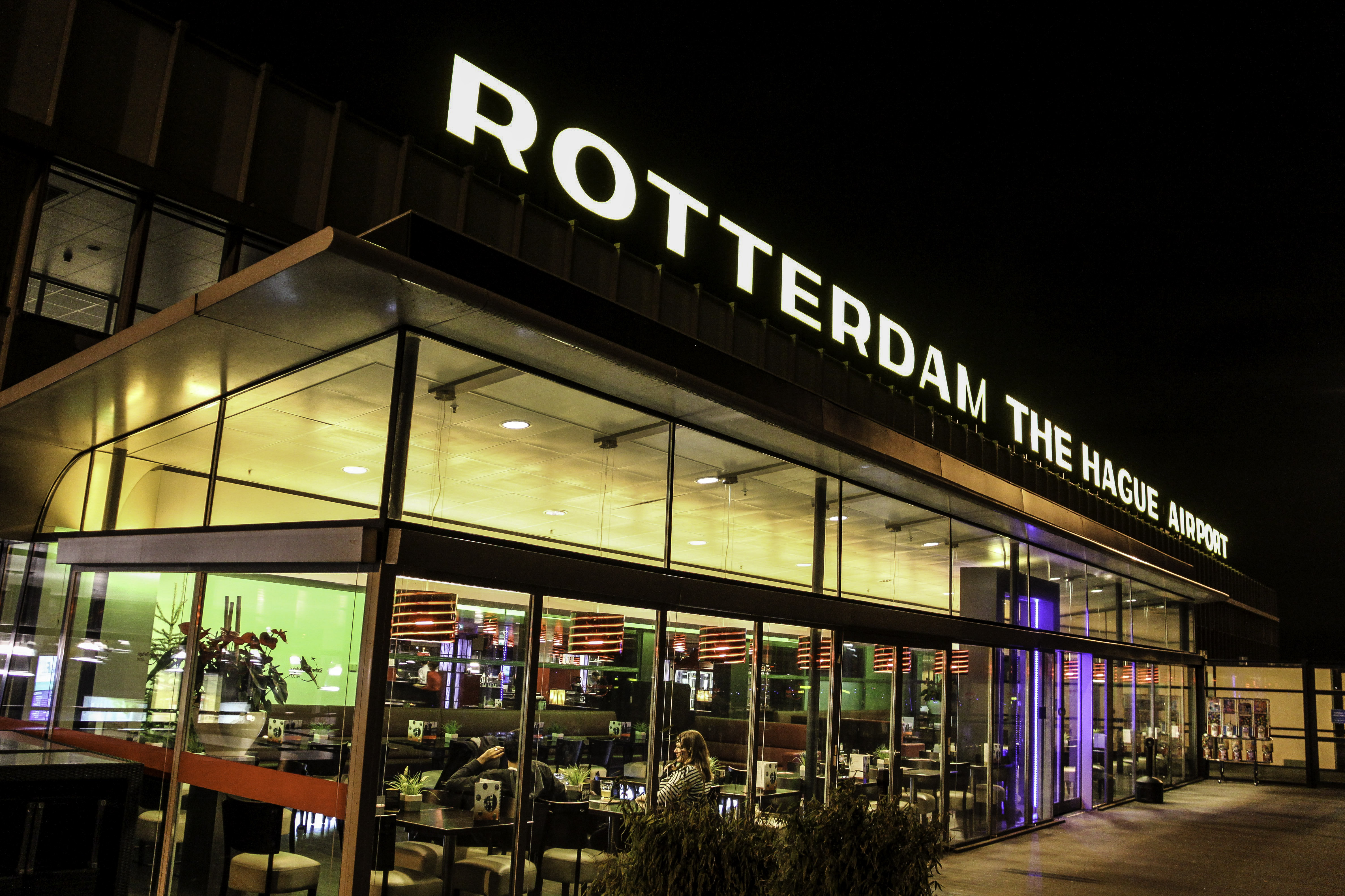 Rotterdam Airport in The Hague, Netherlands.