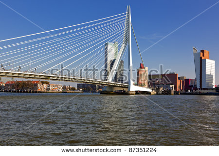 Erasmus Bridge Rotterdam Stock Photos, Royalty.