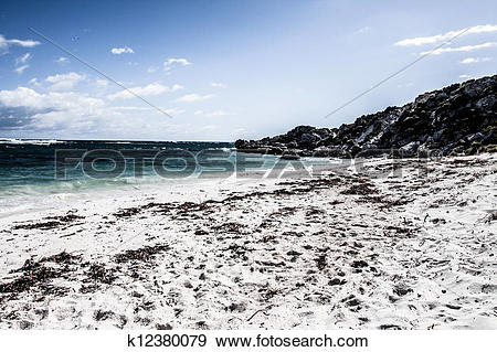 Stock Photograph of Scenic view over one of the beaches of.