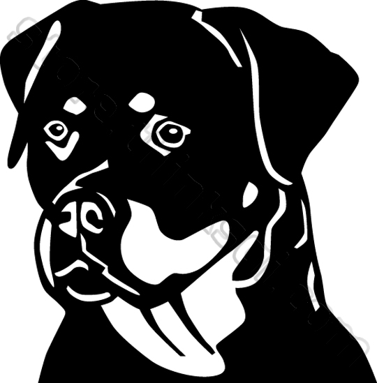 Rottweiler clipart black and white » Clipart Station.