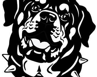Rottweiler PNG Black And White Transparent Rottweiler Black.