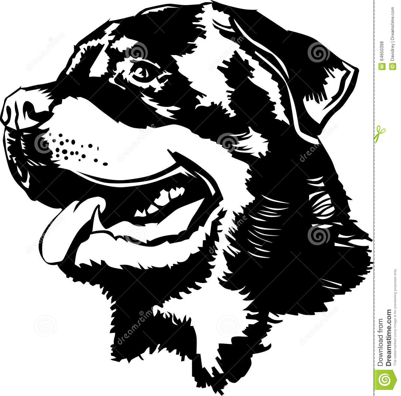 Rottweiler clipart black and white 3 » Clipart Station.