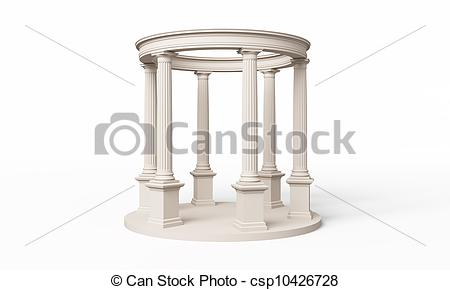 Clip Art of Rotunda classic, Doric order.