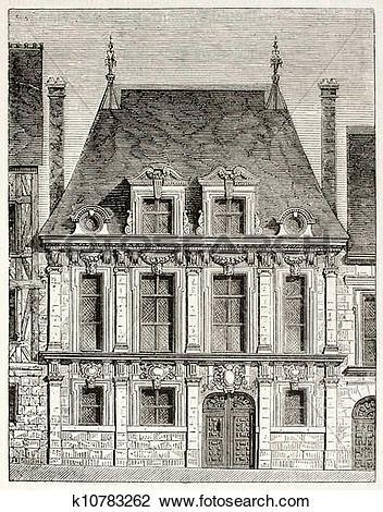 Clip Art of Rouen house k10783262.