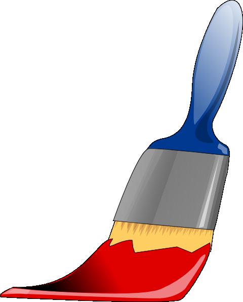 Pinceau Rouge Clip Art at Clker.com.