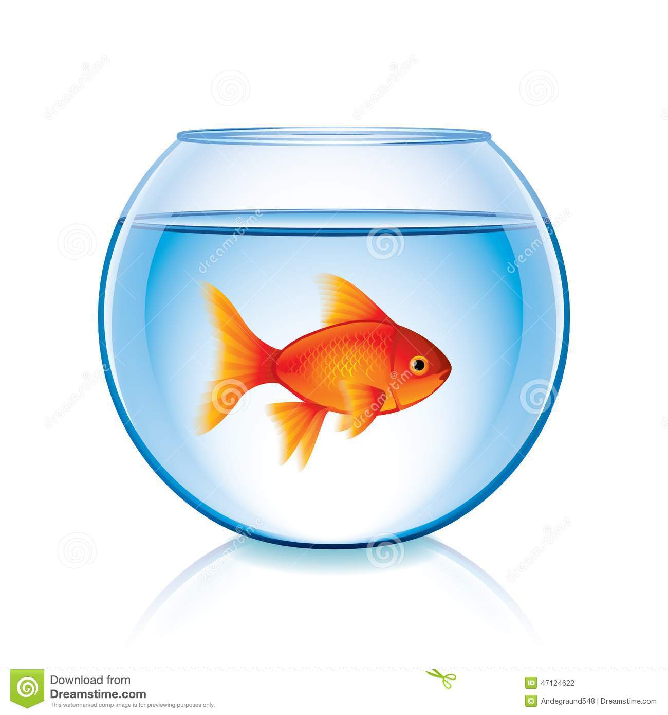 Goldfish Fish Bowl Clip Art Royalty Free Stock Photo.