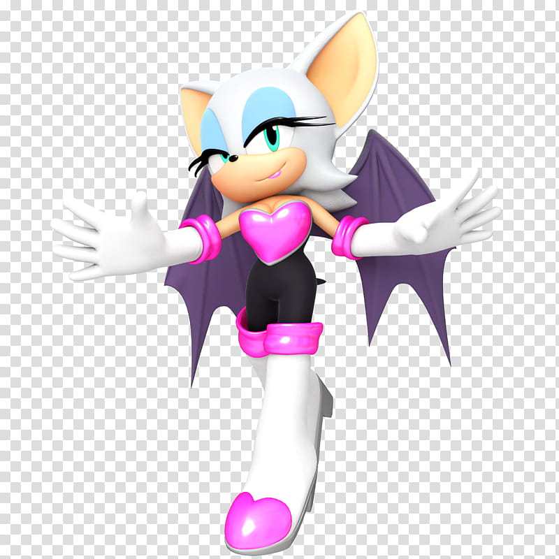 Rouge the Bat in Style transparent background PNG clipart.