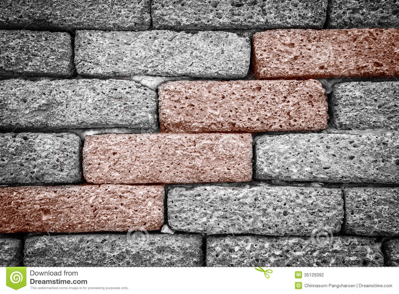 Rough Brick Wall Stock Photography.