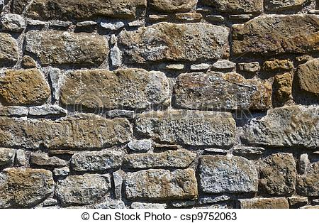 Stock Photos of Rough stone wall.