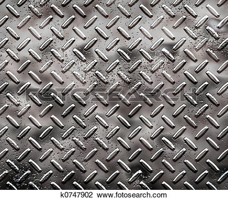 Clip Art of rough black diamond plate k0747902.