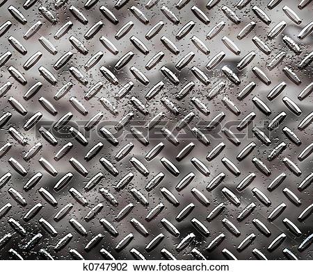 Clip Art of rough black diamond plate k0747902.
