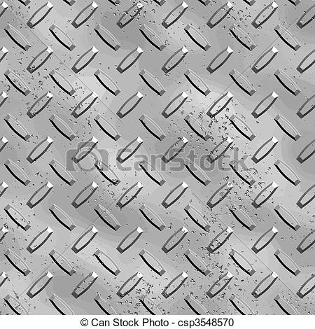 Vector Clipart of rough diamond plate.