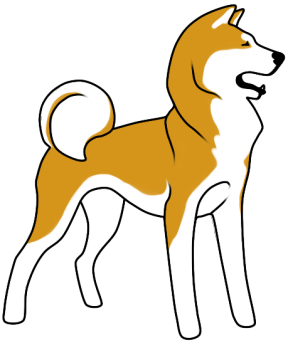 Black And Brown Collie Clip Art.