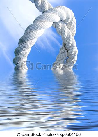 Stock Illustration of knot above water.