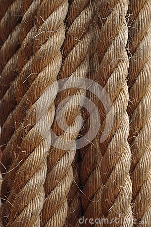 Strong, Hemp Rope, Cord Or Line, With Rough Fiber, Made Of Jute.
