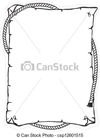 Vector Clip Art of Rope, brained, cord, frame.