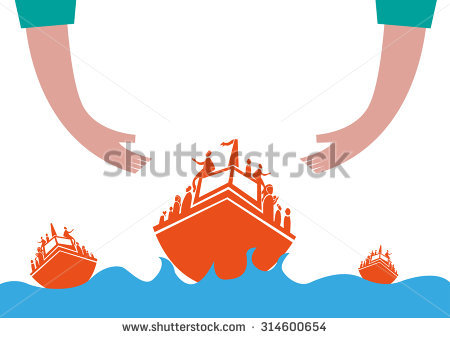 Rough Sea Boat Stock Photos, Royalty.