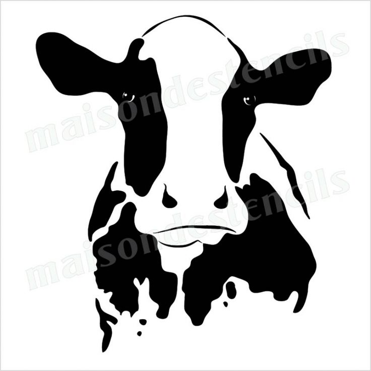 Cow head clipart rough.