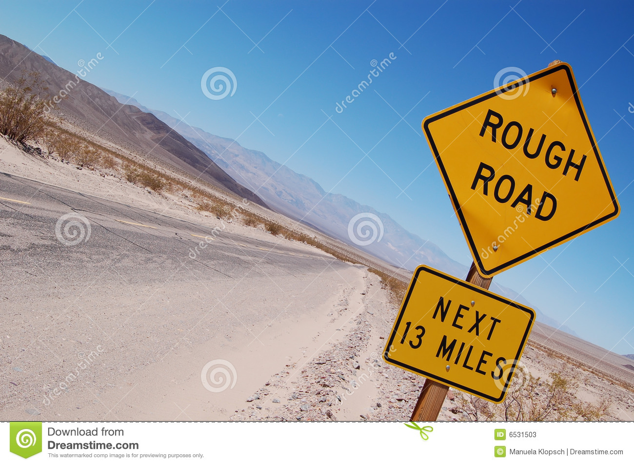 Rough Road Warning Royalty Free Stock Photo.