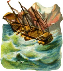 Rough seas clipart.