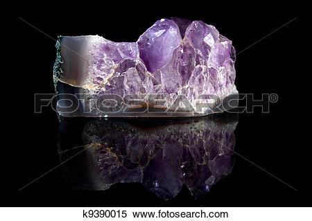 Stock Image of Rough Amethyst gemstone k9390015.