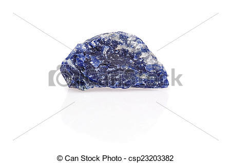 Pictures of Blue black white sodalite gem rough isolated.