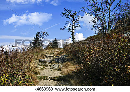 Stock Photography of Rough Hiking Trail k4660960.