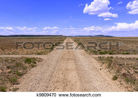 Stock Photography of Signs and rough roads formerly SF Trail.