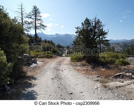 Stock Image of Rough Mountain Road.