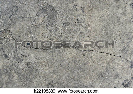 Stock Photograph of Grunge concrete cement rough wall with crack.
