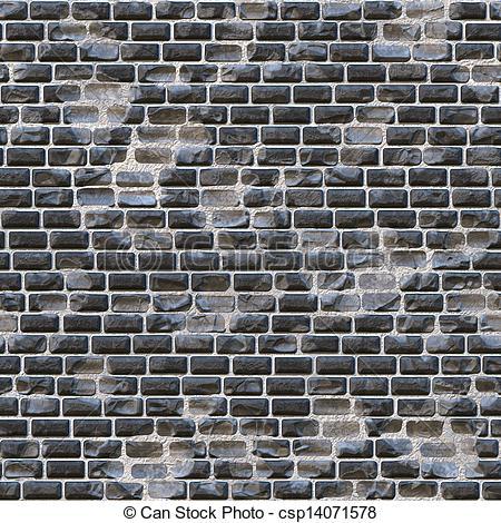 Stock Illustrations of rough brick wall csp14071578.