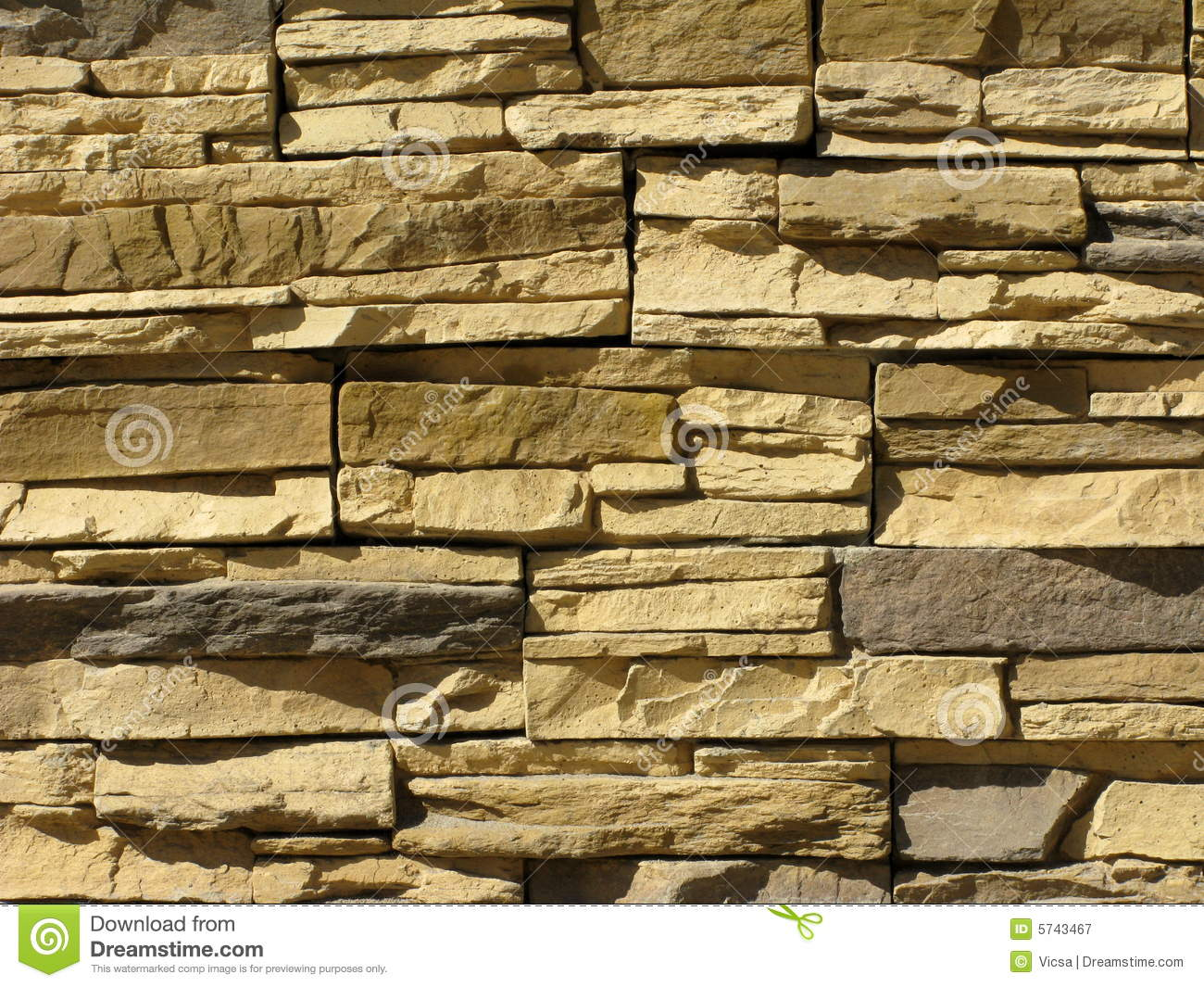 Rough Stone Wall Stock Image.